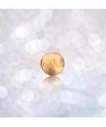 14k Solid Gold Cabochon - Financial Success Manifestation Gem - Round Sm... - $67.49