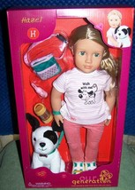 """Our Generation Doll & Pet Collection HAZEL & Black & White Puppy 18"""" Dol... - $40.88"""
