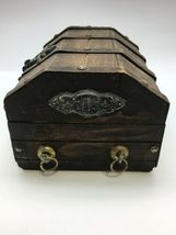 Wood Treasure Chest Mixed World Foreign Coin Paper Money Bank Note 3lb Box image 6