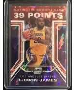 LeBRON JAMES 2019-20 OPTIC CONTENDERS RED CRACKED ICE NUMBERS GAME #16 L... - $247.50
