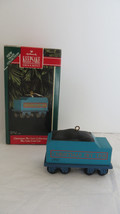 Christmas Hallmark 1992 Christmas Sky Line Coal Car Cast Metal Ornament - $6.79