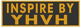 Inspire by YHVH Embroidered Iron-On Patch Gold Version Christian Emblem - $6.92