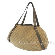 GUCCI Shoulder Bag GG Canvas Leather Beige Khaki 130736 Italy Authentic ... - $373.07