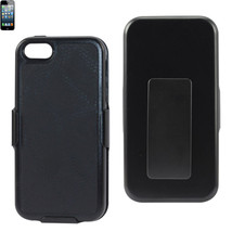 REIKO IPHONE SE/ 5S/ 5 HOLSTER COMBO CASE WITH KICKSTAND IN BLACK - $7.65