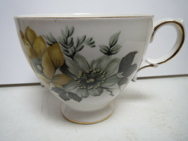 QUEEN ANNE - YELLOW AND GREEN FLOWERS - TEACUP ONLY - MM - $6.00