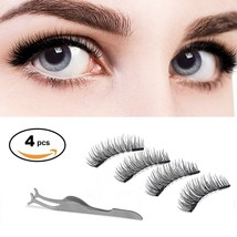 Dual Magnetic False Eyelashes -ChANgly No Glue,Natural Handmade Extensio... - $24.54