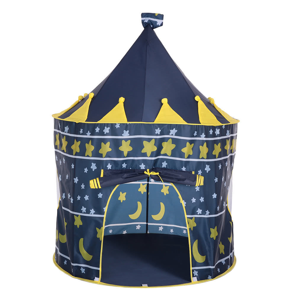 Play Tent Castle Princess Blue Kids Outdoor House Indoor Portable Children girls