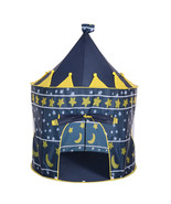 Portable Princess Castle Tent Play Kids Outdoor Indoor Foldable blue Pla... - $22.97