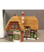 DEPARTMENT 56 Cobb Cottage #5824-6 Hand Painted Porcelain Dickens Villag... - $41.57