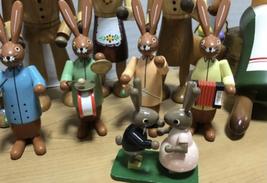 Large Vintage Lot Erzgebirge Kuhnert Wood Rabbit Bunny Easter Made in Germany image 4