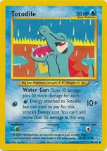 Pokemon Card - Totodile - (85/105) Neo Destiny Set Common **NM*** - $1.49