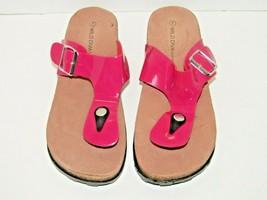 Wild Diva Lounge Thong Platform Bright Pink Flip Flop Sandal Size 7 Tuff... - $14.85