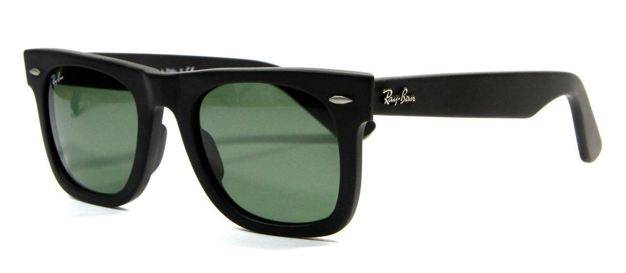 Primary image for Ray Ban 2140 901S Matte Black Wayfarer Sunglasses 50mm Gray Lenses New Genuine