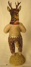 Vintage Inspired Spun Cotton Deer Boy #361 ornament Christmas Putz image 2