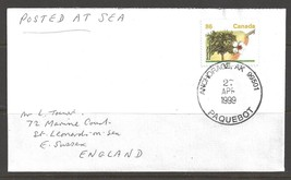 1999 Paquebot Cover Canada stamp used in Anchorage, Alaska (27 APR) - $5.00