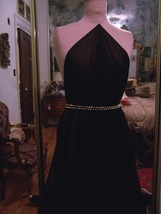 5yd CLASSIC BLACK TRANSLUCENT CRINCKLED GEORGETTE FABRIC DRESSY OR CASUAL - $40.00