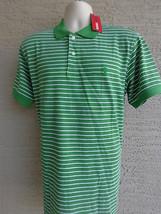 NWT Mens Izod Cotton Pique Knit S/S Polo Shirt M Lime Multi $45.msrp - $19.62