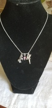 Young girl's October birthday gift, delicate necklace with unicorn and f... - $24.00