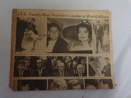 ORIGINAL November 23 1963 Pittsburgh Post Gazette JFK Kennedy Memorial N... - $29.69