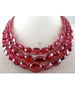 BEST NATURAL RED SPINEL RUBY BEADS CABOCHON 3 LINE 266 CARATS GEMSTONE N... - $2,090.00
