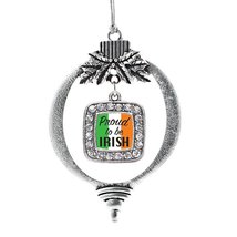 Inspired Silver Proud to be Irish Classic Holiday Decoration Christmas Tree Orna - $14.69