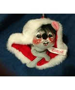 Vintage Annalee Mobilitee Doll 1971 Mouse in Red Felt Hat - $14.97