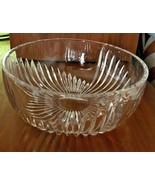 """Crystal 8"""" Fruit Bowl, 3 Graduated Meridian Starburst Design. Vintage  M... - $24.99"""