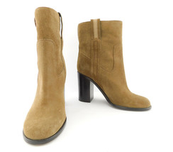 KATE SPADE Size 5 BAISE Brown Suede Ankle Heeled Boots - $79.00