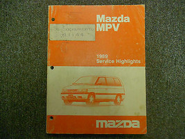 1989 Mazda MVP Service Highlights Service Reparatur Shop Manuell OEM Buc... - $14.84