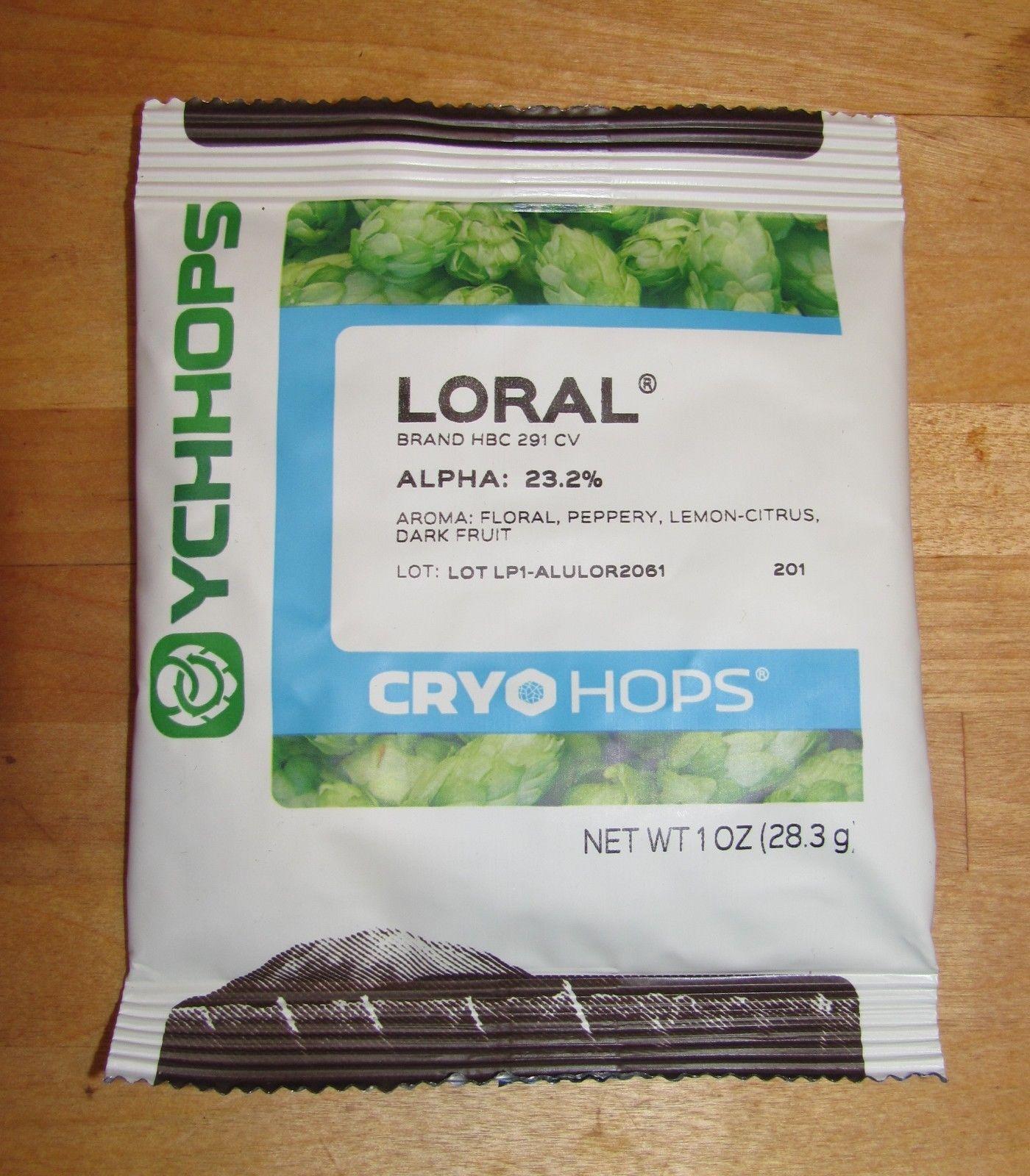 LORAL CRYO HOP PELLETS 1oz NEW SUPER NOBLE HOPS ex HBC291 LupuLN2 HOP HASH 23%AA