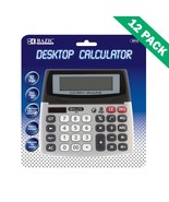 College Calculator, Office Calculator Solar Dual Powered - 12 Unit Case - $145.89