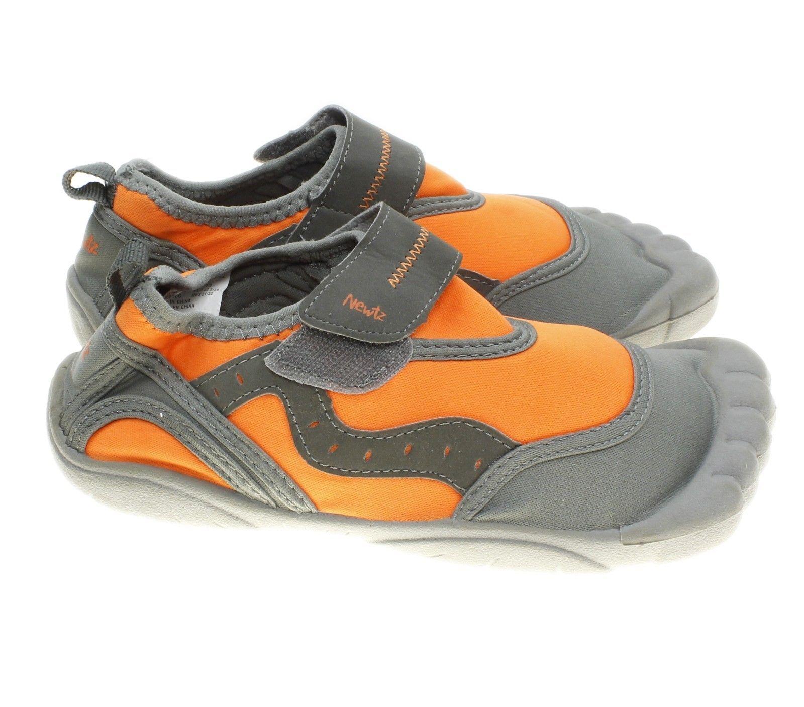 fe021a3e3ec5 Newtz Kids Toe Bumper Water Shoes - Size 2 3 Orange   Grey Worn Once