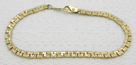 "VTG 22K GL Gold Plated I LOVE YOU HEART Foil Bracelet 6.5"" - $19.80"