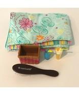 American Girl Doll Dreamy Trundle Bedding Comforter Picnic Set Basket Ha... - $29.99