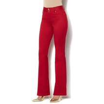 IMAN Luxury Denim Perfect Fit Boot-Cut Jeans CHILI PEPPER 10 Short NEW 5... - $31.65