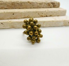Vintage Brass Abstract Bead Design Ring Size 8 V49 - $16.99