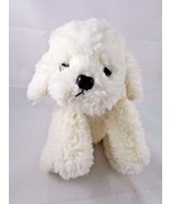 "Applause Ms Annie White Dog Plush 68345 8.5"" tall Stuffed Animal toy - $12.95"