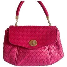Vintage Bottega Veneta pink intrecciato woven leather handbag. Classic purse. - $452.00