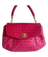 Vintage Bottega Veneta pink intrecciato woven leather handbag. Classic p... - $452.00