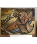 Mid Century Original Oil Painting Frederick A Frederickson Abstract 8 - $125.00