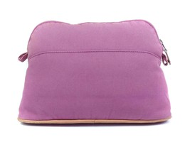 Auth HERMES Canvas Pink Cosmetic Pouch, Clutch bag HC17060L - $159.00