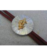 Shriners Bolo Tie Crescent Sword Gold and Rhinestones - $12.99