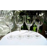 Set of 4 Towle Crystal Essex Pattern Tall Wine Goblets - $38.60