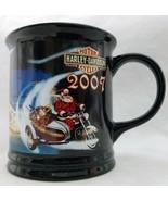 Harley Davidson 2007 Santa Christmas Coffee Mug 14 ounces Black - $17.82