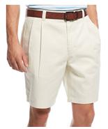$46 Club Room Men's Double-Pleated Cotton Shorts, Sand Villa, Size 30X9. - $19.79