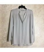 VINCE Size XS Womens Silk Top Blouse Light Beige Button Down - $57.82