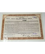 Magna Pipe Line Company Limited Stock Series A Warrant Certificate 1961 - $12.86