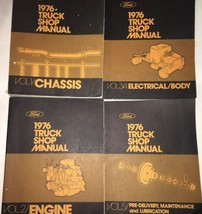 1976 Ford Truck Shop Manual Set Chassis Electrical / Body Engine Mainten... - $88.43
