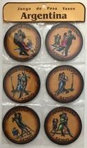 Argentina Tango Dancers Drink Coasters Barware Round Juego de Posa Vasos... - $9.50