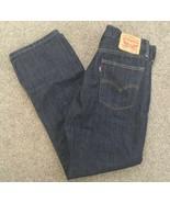 Levis 514 Mens Dark Blue Red Tab Jeans Size 33x30 - $34.99